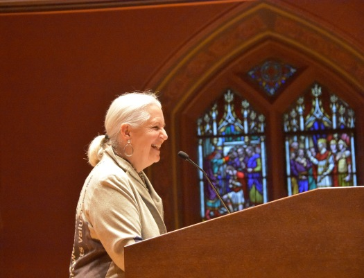 Award-winning author-conservationist-activist Terry Tempest Williams at Memorial Chapel.